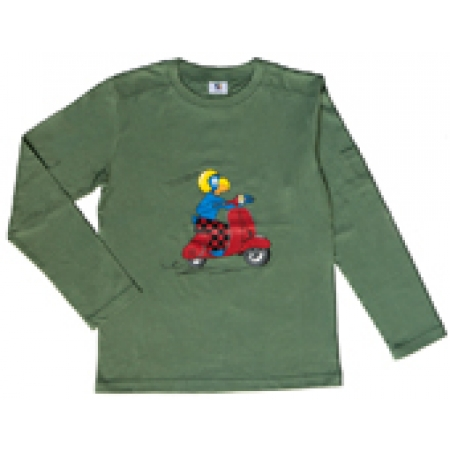 Globi Kinder T-Shirt olive langarm