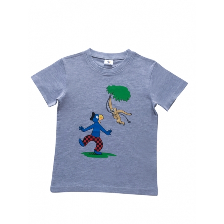 Globi T-Shirt grau Gibbon