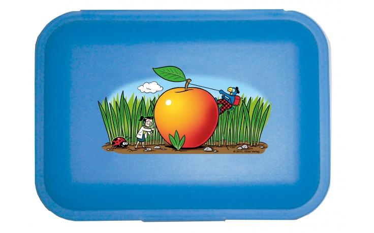 Globi Lunchbox der Forscher blau