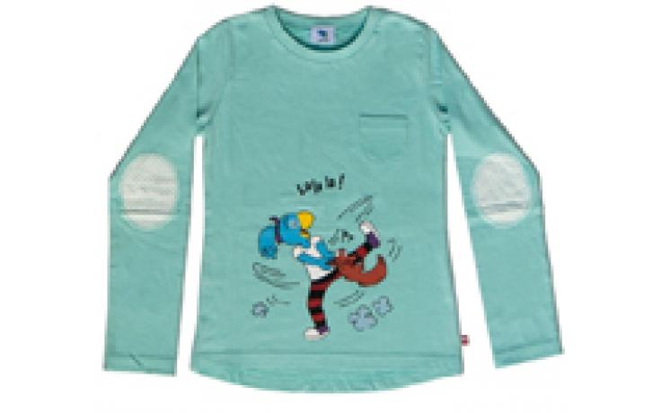 Globine Kinder T-Shirt aqua langarm
