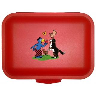 Globi Lunchbox Bauer rot