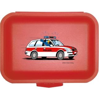 Globi Lunchbox Polizei rot