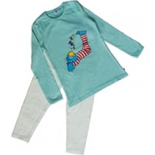 Globine Kinder Pyjama Winter lang aqua