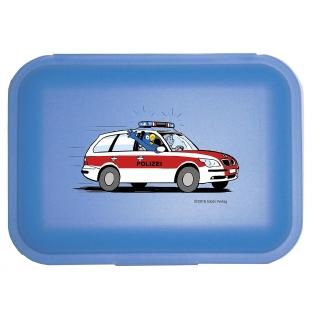 Globi Lunchbox Polizei blau