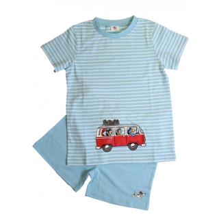 Globi Kinder Pyjama Sommer kurz blau